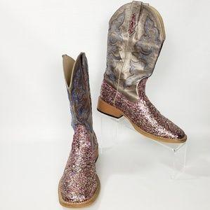 Roper Ladies Sparkles Wide Square Toe Boot